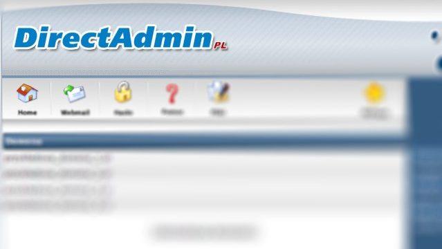 Widok panelu administracyjnego direct admin