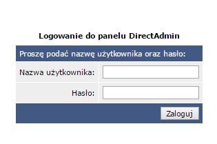 Logowanie do panelu administracyjnego Direct Admin